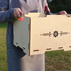 Puidust kast, vineerist kast, kinkekarp